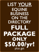 List your business on the Manitoba Equine Directory